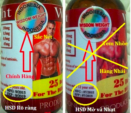 so sanh hang chinh hang va hang nhai thuoc tang can wisdom weight