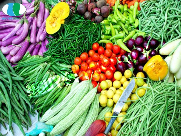 Rau củ là thực phẩm không bị tăng cân