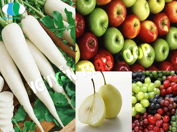 Kết hợp củ cải trắng với các loại lê, táo, nho gây hại sức khỏe