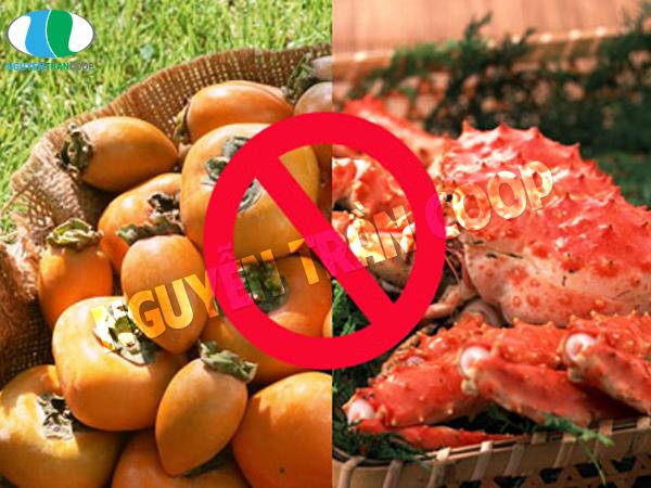 Hải sản và hoa quả khi kết hợp là thực phẩm gây hại
