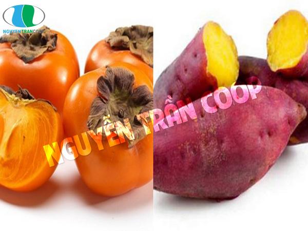 Khoai lang và quả hồng là thực phẩm gây hại cho sức khỏe nếu dùng kết hợp