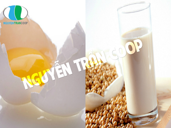 Sữa đậu nành và trứng gà mệ bầu nên lưu ý
