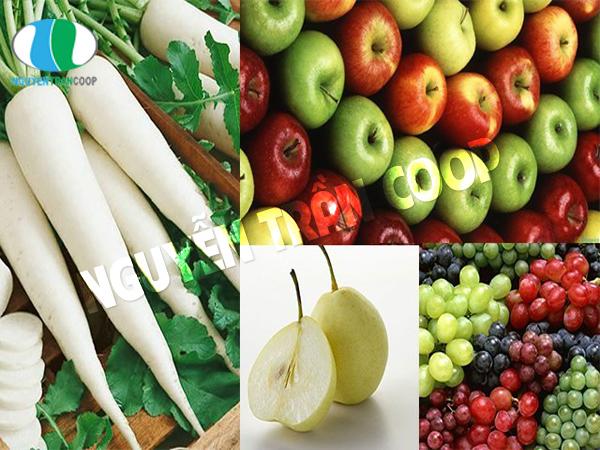 Củ cải trắng với nho, lê, táo mẹ bầu không nên dùng kết hợp