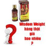 Thuốc tăng cân Wisdom Weight hàng thật giá bao nhiêu?